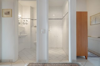 WC and storage room with removable partition