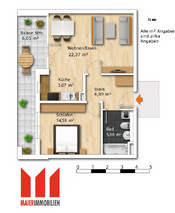 Floor plan furnished
